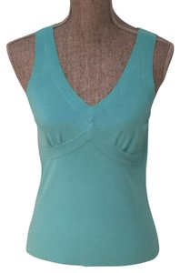 Ann Taylor LOFT Casual Casual Top Turquoise