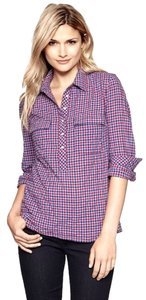 Gap Top Plaid