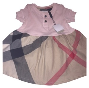 Burberry short dress Ice Pink and Burberry Check Print Infant Children Childrens on Tradesy