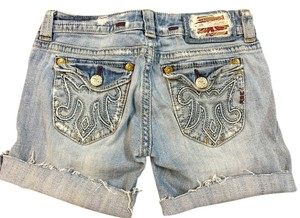 MEK DNM Cut Off Shorts Lt Blue