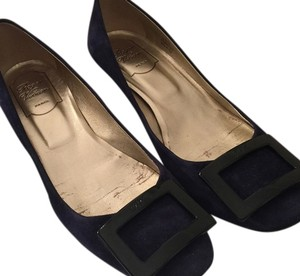 Roger Vivier Belle De Nuit Suede Evening Blue / dark purple Pumps