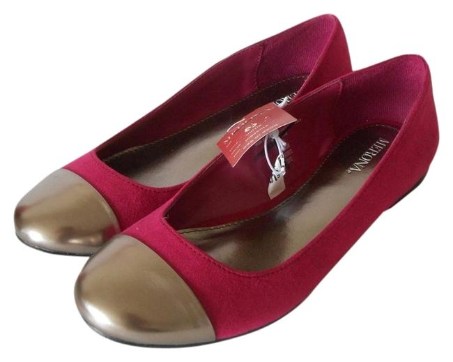Item - Magenta Mittie Silver Toe Capped Ballet Flats Size US 7.5 Regular (M, B)