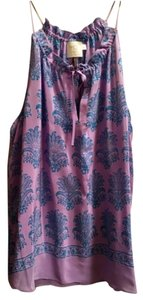 Anthropologie Top Lavendar and teal print