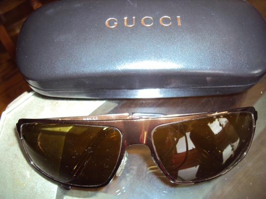 Gucci Gucci Gradient Brown Metal Sunglasses