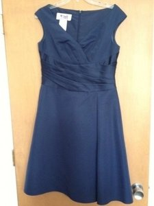 David's Bridal Blue F12723 Traditional Bridesmaid/Mob Dress Size 10 (M)