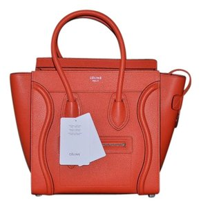 Céline Tote in Vermillion Red
