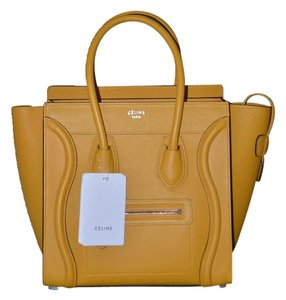 Céline Tote in Ocre Yellow
