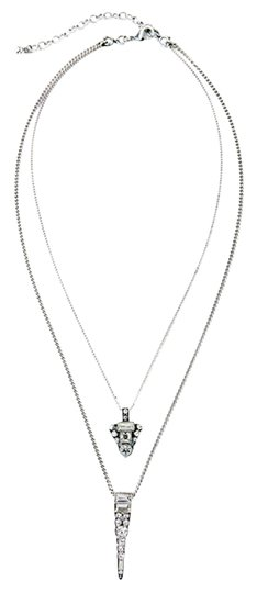 Preload https://img-static.tradesy.com/item/12794980/silver-point-crystal-2-chain-necklace-0-1-540-540.jpg