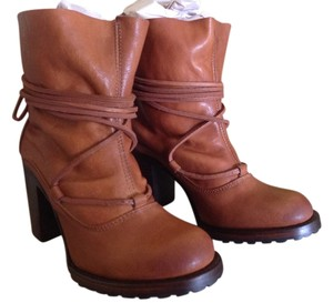 FreeBird Steve Madden Leather Jump Cognac Boots