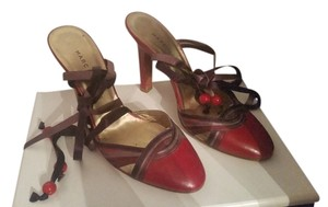 Marc Jacobs Red, Purple and Light Purple Mules