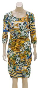 Dolce&Gabbana short dress Yellow Mutlicolor on Tradesy