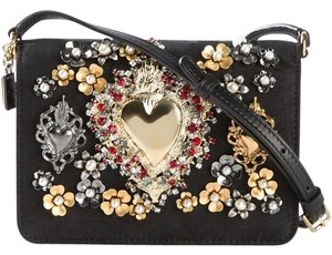 Dolce&Gabbana Dolce & Gabbana Clutch Mini Heart Black Cross Body Bag