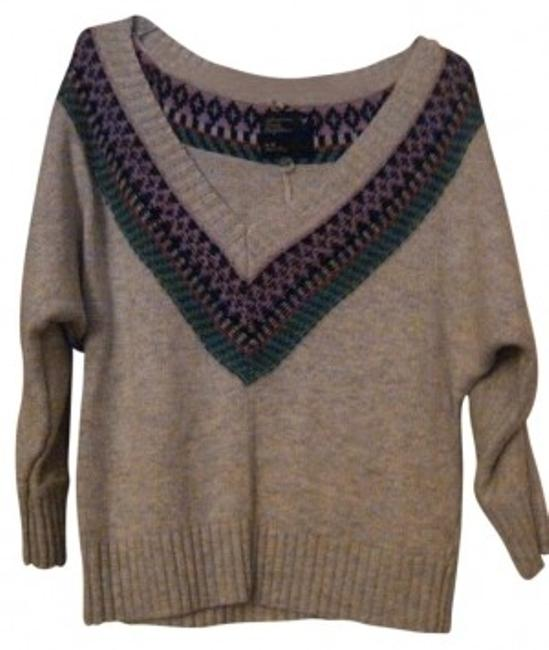Preload https://item2.tradesy.com/images/american-eagle-outfitters-grey-ish-oatmeal-multicolored-sweaterpullover-size-8-m-127971-0-0.jpg?width=400&height=650
