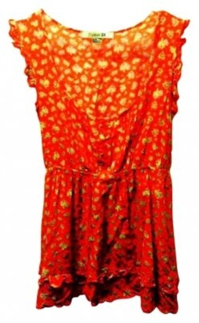Preload https://item5.tradesy.com/images/forever-21-orange-with-yellow-pattern-cute-spring-short-sleeve-blouse-size-8-m-127979-0-0.jpg?width=400&height=650