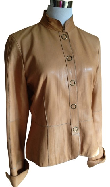 Preload https://item1.tradesy.com/images/true-meaning-leather-tailored-buttery-tan-leather-jacket-1279810-0-0.jpg?width=400&height=650