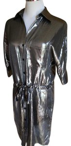 BCBG short dress silver Drawstring on Tradesy