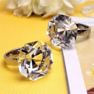 Large Diamond Ring Gifts Reception Decoration