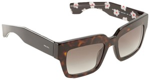 37b9dfee0b4 Prada NEW! Prada Black Brown Tortoise Square Floral Poeme Sunglasses Sunnies