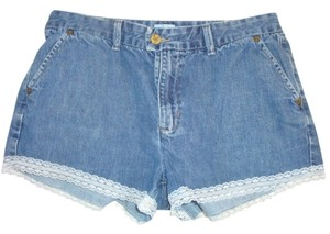 Calvin Klein Lacey Military Pocket Slightly Worn Wash Trouser Denim Jeans Dress Shorts blue