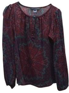 Marc by Marc Jacobs Bohemian Wool Flowy Top Paisley