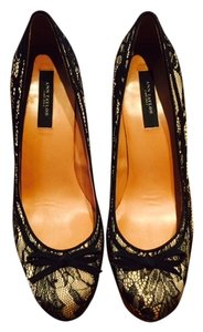 Ann Taylor Comfortable Holiday Black Lace Pumps