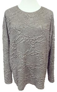 Zara Exposed Zipper Drop Day To Evening Wear Color Top Silver, Light Gunmetal