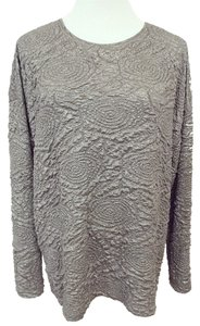 Zara Knit Top Silver, Light Gunmetal