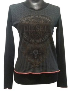 Diesel Extraordinary Time Travellers T T-shirt Pullover T Shirt Black