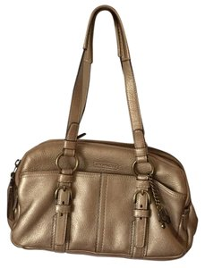 Coach Satchel in Gold
