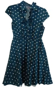 bailey blue short dress Teal with white polka dots on Tradesy