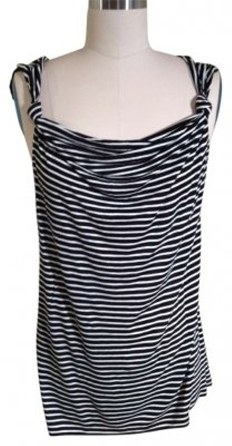 Preload https://img-static.tradesy.com/item/128042/gap-blackwhite-sleeveless-striped-blouse-size-8-m-0-0-650-650.jpg