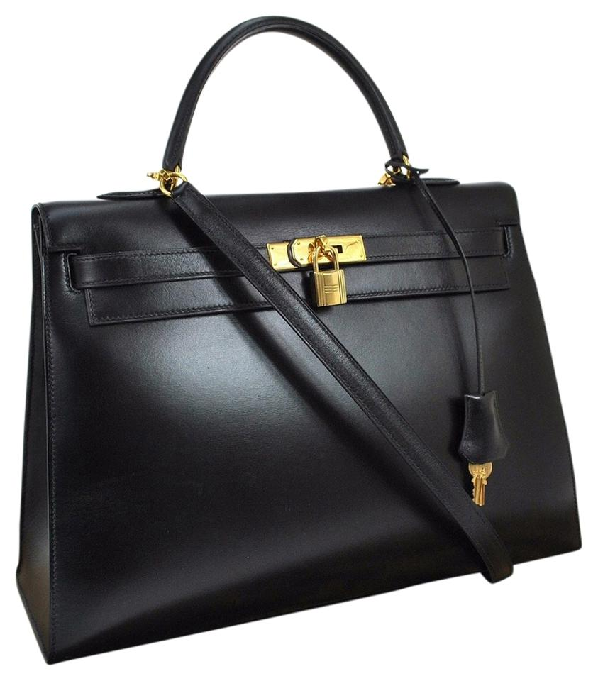 eed309ed1f7 Hermès Kelly 32cm Gold Plated Sellier Black Box Calf Leather ...