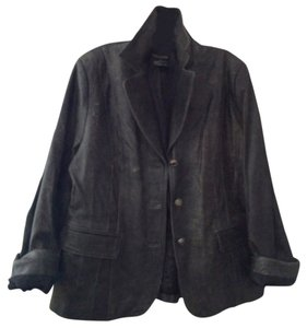 Pamela Dennis Charcoal Leather Jacket