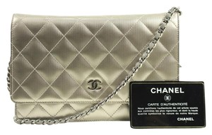 Chanel Woc Striped Quilted Cross Body Bag
