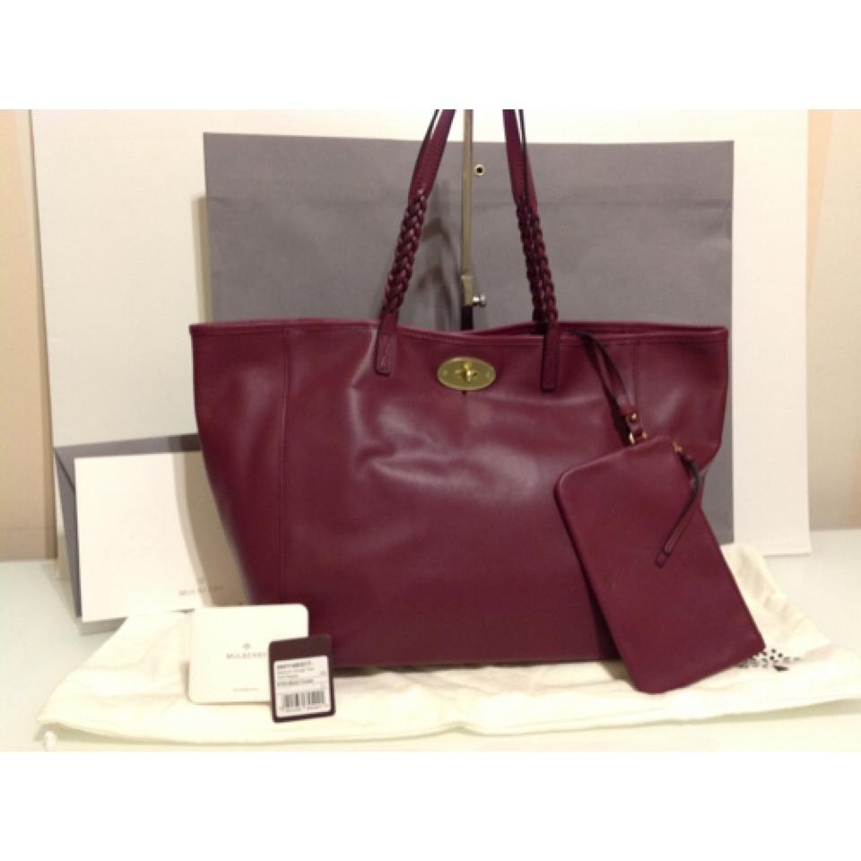 559ffda3989a Mulberry Black Forest Burgundy Soft Nappa Leather Tote - Tradesy