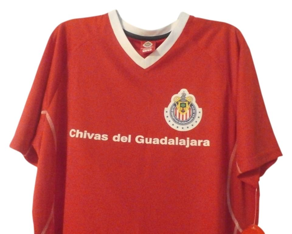 best service c5453 aab49 Red/White New Club Deportivo Chivas De Guadalajara Men's Jersey Color  Red/White Activewear Sportswear Size 8 (M, 29, 30)