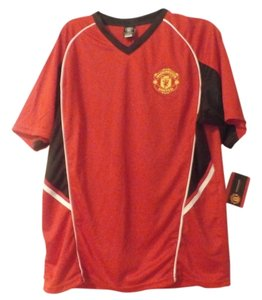 OFFICIAL MERCHANDISE NEW MEN'S JERSEY SIZE L CLUB DEPORTIVO MANCHESTER UNITED COLOR RED/WHITE BLACK YELLOW