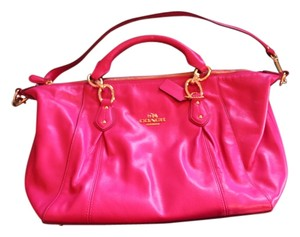 Coach Leather Satchel in Pink