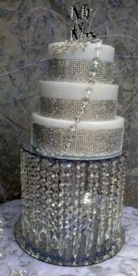 Clear Crystal Acrylic Stand. Cake Topper