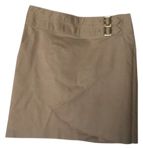 Tory Burch Mini Skirt Beige/ Tan