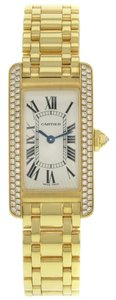Cartier Cartier Tank Americaine WB7043JQ Diamond 18K Yellow Gold Quartz Ladies Watch (7115)