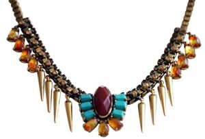 Lucky Brand Lucky Brand tribal collar necklaces Red Turquoise Resin Stone & Spike $55