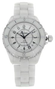 Chanel Chanel J12 H0970 White Ceramic Mid Size Automatic Unisex Watch (7823)