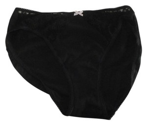 Victoria's Secret Victoria's secret lace underwear SIZE M BLACK HIGH-LEG BRIEF