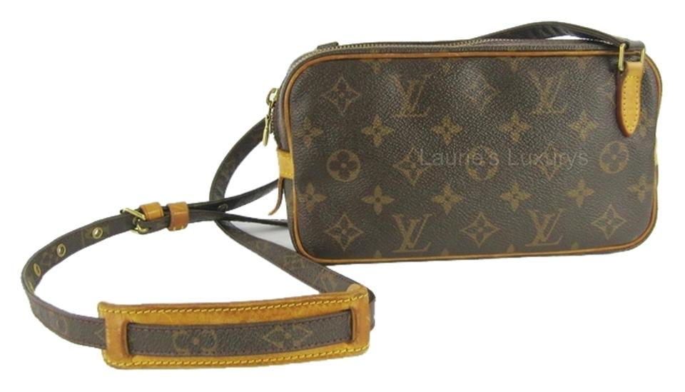 4599685a6995 Louis Vuitton Marly Bandouliere Small Lv Shoulder Brown Monogram Canvas Cross  Body Bag
