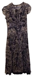 Blue/Cream Paisley And Flowers Maxi Dress by T Tahari