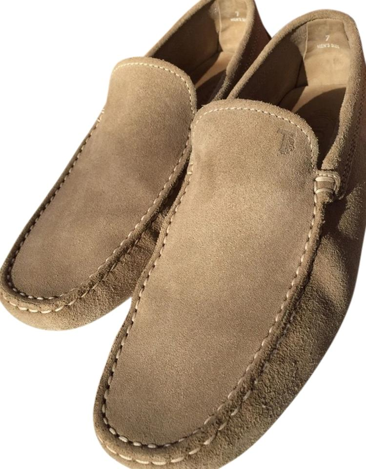 b820783b2e0 Tod's Beige Men Taupe Tan Suede Leather Driver Moccasin Loafers Italy *  Rare Flats