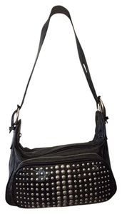 abro Studded Patent Leather Shoulder Bag