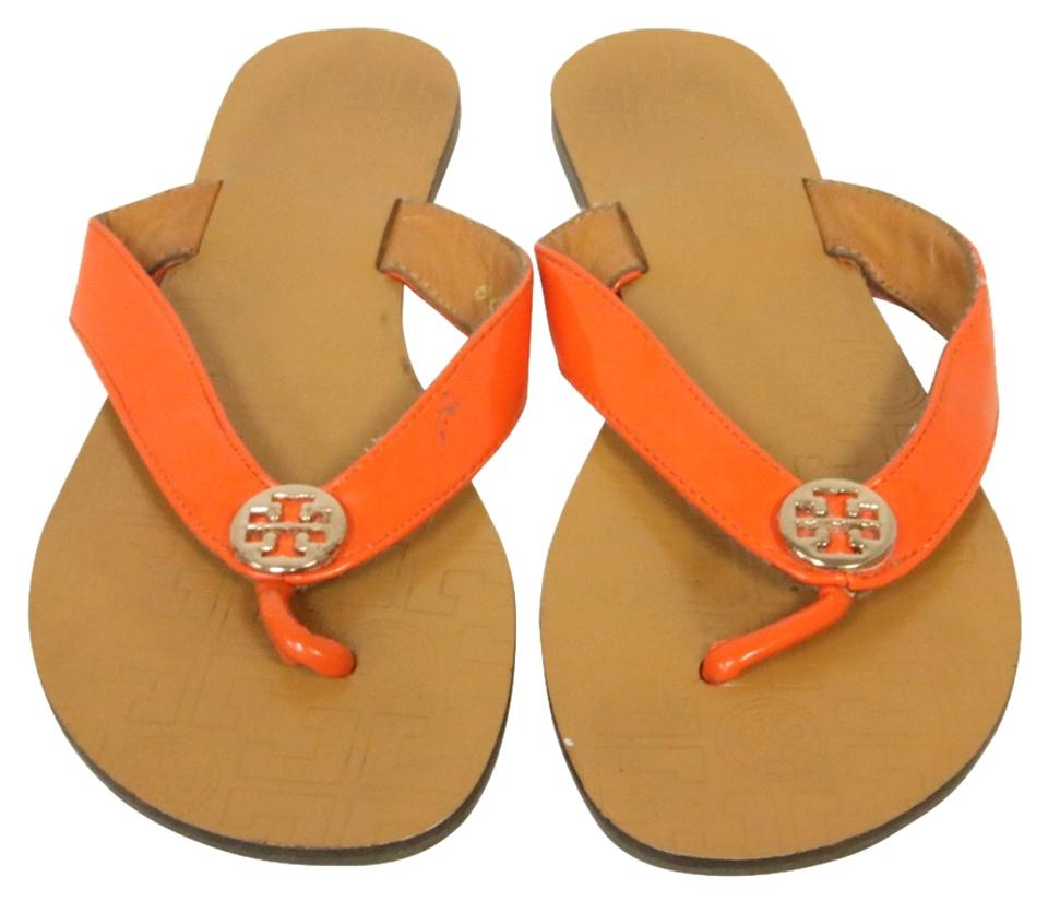 Tory Strap Burch Orange T Thora Strap Tory Thong Flip Flop Sandals b3d80c