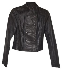BB Dakota Fall Fall Winter Leather Dark Gray Jacket